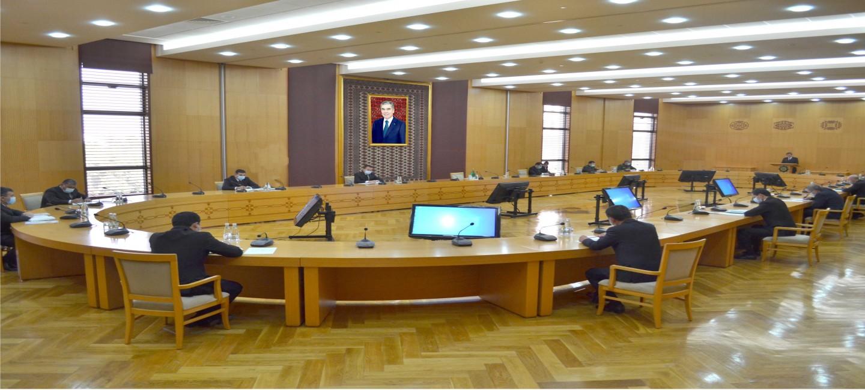 В МИД Туркменистана состоялось заседание Межведомственной комиссии Туркменистана по вопросам Каспийского моря