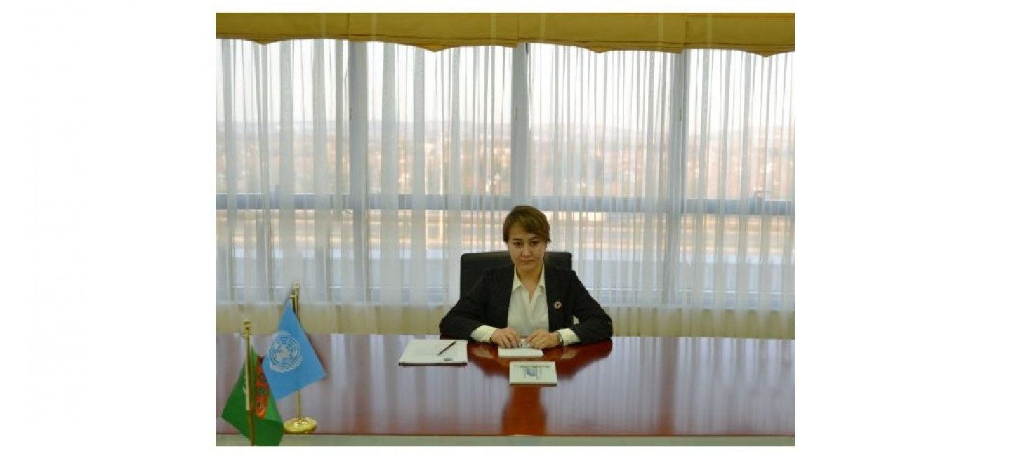 MEETING WITH THE HEAD OF UNEP'S CENTRAL ASIA OFFICE HELD AT THE MINISTRY OF FOREIGN AFFAIRS OF TURKMENISTAN