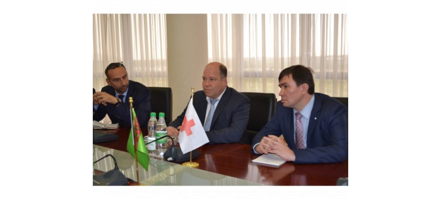 THE MEETING WITH THE DELEGATION OF ICRC WAS HELD AT THE MFA OF TURKMENISTAN